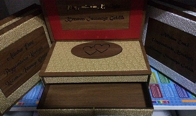 Ahşap Çikolata Kutusu